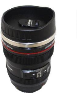 ShopAIS Lens Shaped Mug with Cookie holder